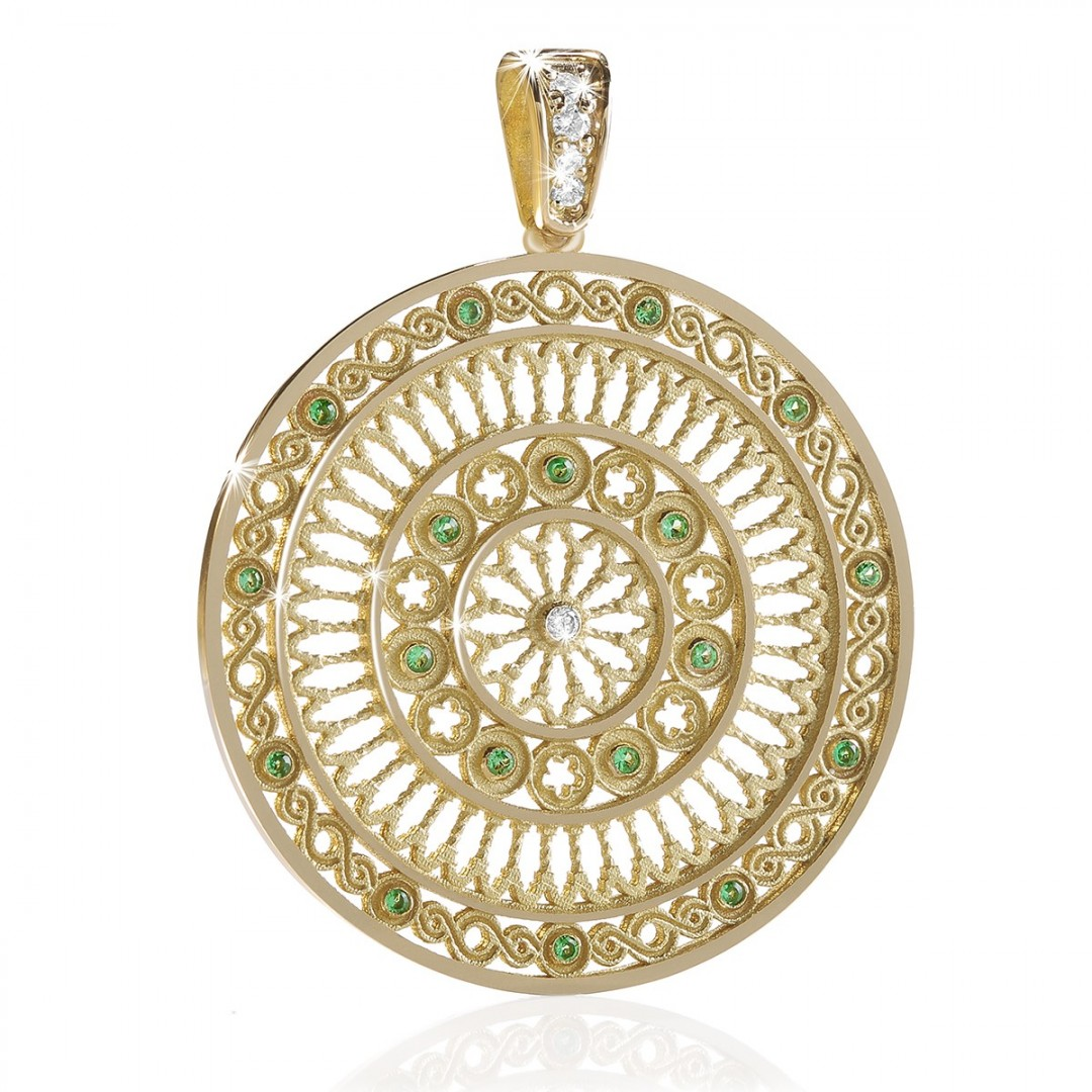 rose window pendant TERRA assisi