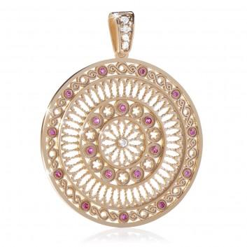 FOCU rose window pendant silver