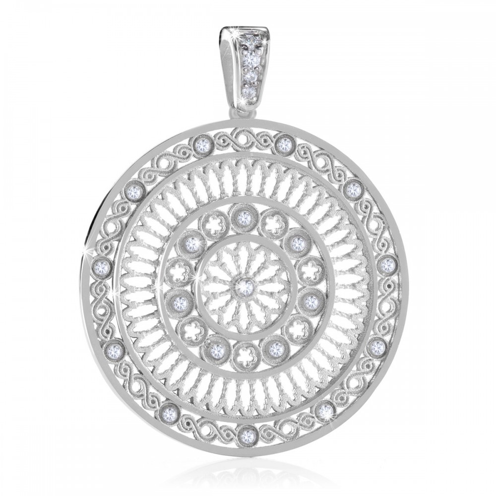 AERE rose window pendant - religious jewels