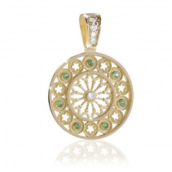 Rose window religious jewel - TERRA pendant