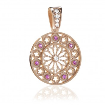 rose gold FOCU rose window pendant