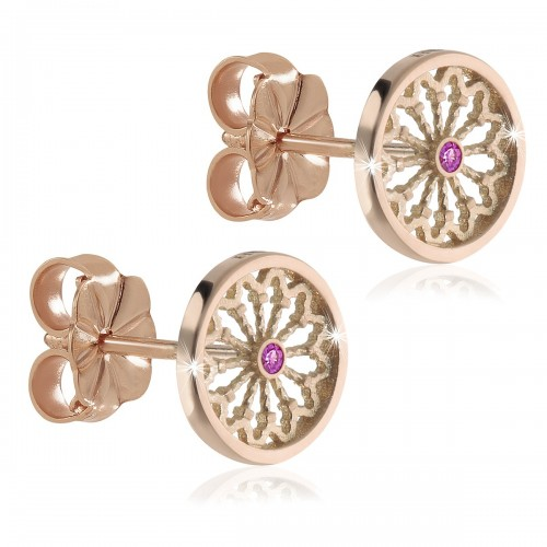 Rosoni di Assisi - orecchini FOCU in argento