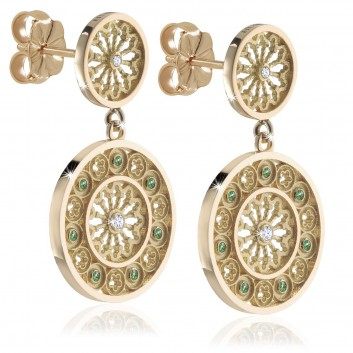 Sterling silver TERRA rose window earrings