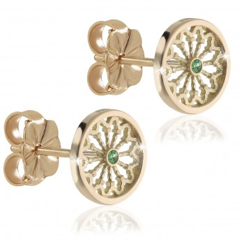 Humilis yellow gold TERRA rose window earrings