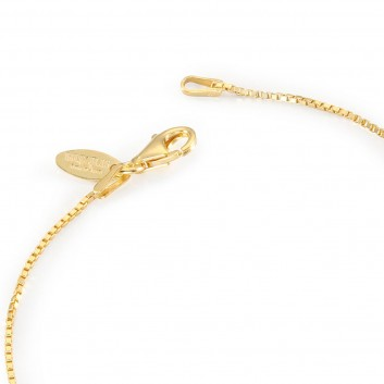 Humilis yellow gold plated sterling silver box chain