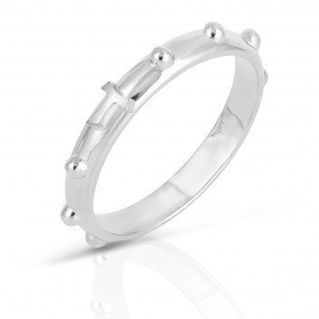 Humilis anello rosario in argento