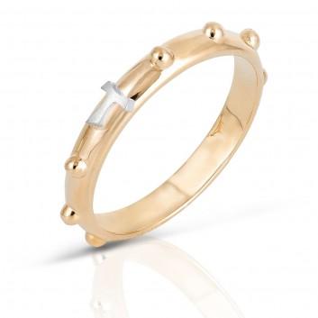 Humilis anello rosario in oro giallo
