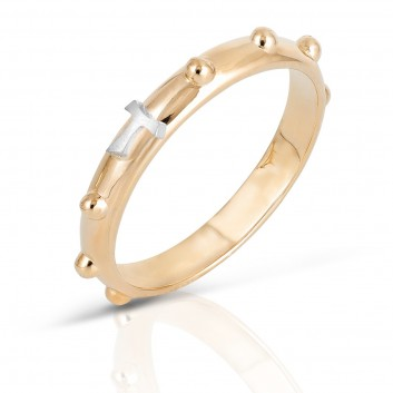Humilis yellow gold rosary ring