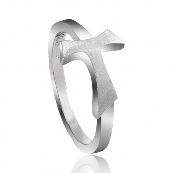 Humilis white gold AERE sign ring