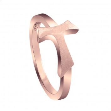 Humilis anello segno in argento placcato oro rosa