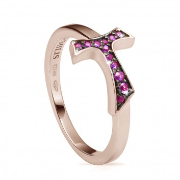 Humilis rose gold FOCU sign ring